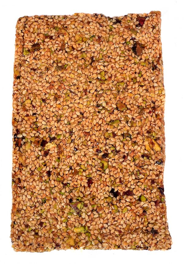pasteli with pistachios